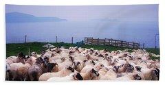 Herding Sheep, Inishtooskert, Blasket Beach Towel