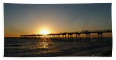 Beach Towel featuring the photograph Hermosa Beach Sunset by Nina Prommer