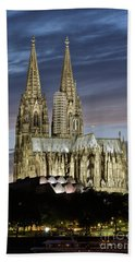 Beach Towel featuring the photograph High Cathedral Of Sts. Peter And Mary In Cologne by Heiko Koehrer-Wagner