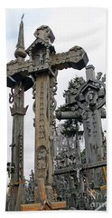 Hill Of Crosses 09. Lithuania Beach Sheet by Ausra Huntington nee Paulauskaite