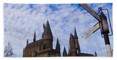 Beach Towel featuring the photograph Hogwarts Castle by Julia Wilcox