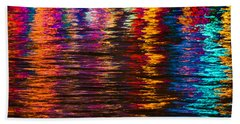 Holiday Reflections Beach Sheet by Dorothy Cunningham