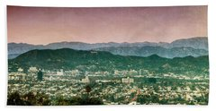Hollywood At Sunset Beach Towel