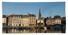 Beach Sheet featuring the photograph Honfleur  by Carla Parris