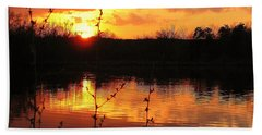 Horn Pond Sunset 8 Beach Towel