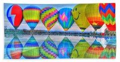 Hot Air Balloons At Eden Park Beach Towel