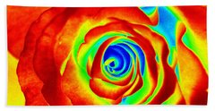 Hot Rose Beach Sheet by Paul  Wilford