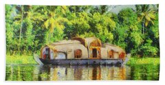Houseboat Beach Towel