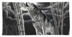 Howling At The Moon Beach Towel
