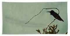 Hummingbird On Winter Wisteria Beach Towel