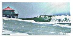 Huntington Wave Beach Towel