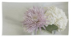 Hydrangea And Mum Beach Towel
