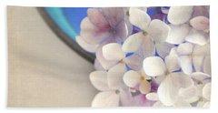 Hydrangeas In Blue Bowl Beach Towel by Lyn Randle