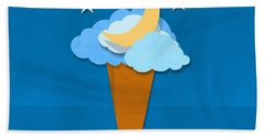 Ice Cream Design On Hand Made Paper Beach Towel