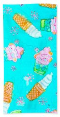 Ice Cream I Scream Beach Towel by Beth Saffer