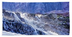 Beach Towel featuring the photograph Icy Cascade by Albert Seger