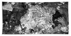 Beach Towel featuring the photograph Icy Road by Chalet Roome-Rigdon