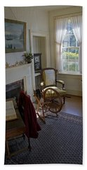 Beach Towel featuring the photograph Inside Yaquina Bay Lighthouse by Mick Anderson