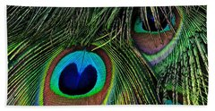 Iridescent Eyes Beach Towel