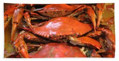 Beach Towel featuring the photograph Crab Dinner Ocean Seafood  by Susan Carella