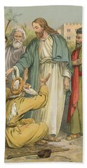 Jesus And The Blind Men Beach Towel