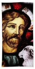 Jesus The Good Shepard Beach Towel