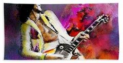 Jimmy Page 02 Beach Sheet by Miki De Goodaboom