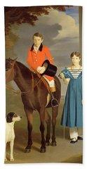 John Gubbins Newton And His Sister Mary Beach Towel