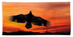 Beach Towel featuring the photograph Juvenile Sunset  by Randall Branham