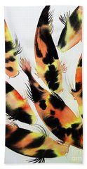 Koi Action Beach Towel