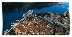 Beach Towel featuring the photograph Kotor Montenegro by David Gleeson