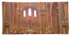 La Iglesia Matriz De Sangolqui Ecuador Beach Sheet