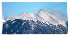 La Sal Mountains 111 Beach Towel