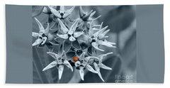 Ladybug Flower Beach Towel