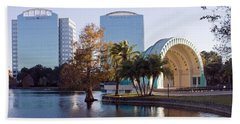 Lake Eola's  Classical Revival Amphitheater Beach Sheet by Lynn Palmer