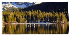 Beach Sheet featuring the photograph Lake Mary Reflections by Lynn Bauer
