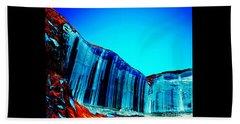 Lake Powell Blue Ice Beach Towel