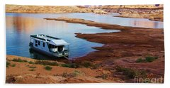 Lake Powell Houseboat Beach Sheet by Michele Penner