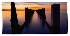 Lake Reflection Beach Towel