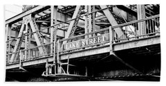 Lake Street Bridge Beach Towel