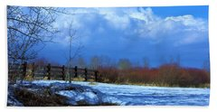 Landscape  Snow Scene Beach Towel