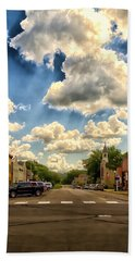 Lanesboro City Minnesota Beach Towel