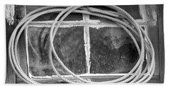 Beach Towel featuring the photograph Lasso In The Window  by Deniece Platt