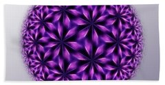 Last Dream Mandala Beach Towel by Danuta Bennett