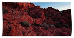 Last Light In Valley Of Fire Beach Towel