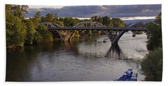 Last Light On Caveman Bridge Beach Towel