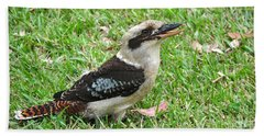 Laughing Kookaburra Beach Towel by Kaye Menner