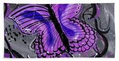 Lavendar Ripple Beach Towel