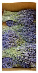 Beach Towel featuring the photograph Lavender Bundles by Lainie Wrightson