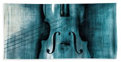 Le Violon Bleu Beach Towel by Hakon Soreide